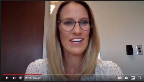 WBMF News Anchor Meghan Miller speaks to Socastee Media Students via Zoom in September.