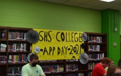 Admissions Counselors were on hand in the media center to help students on College Ap Day.